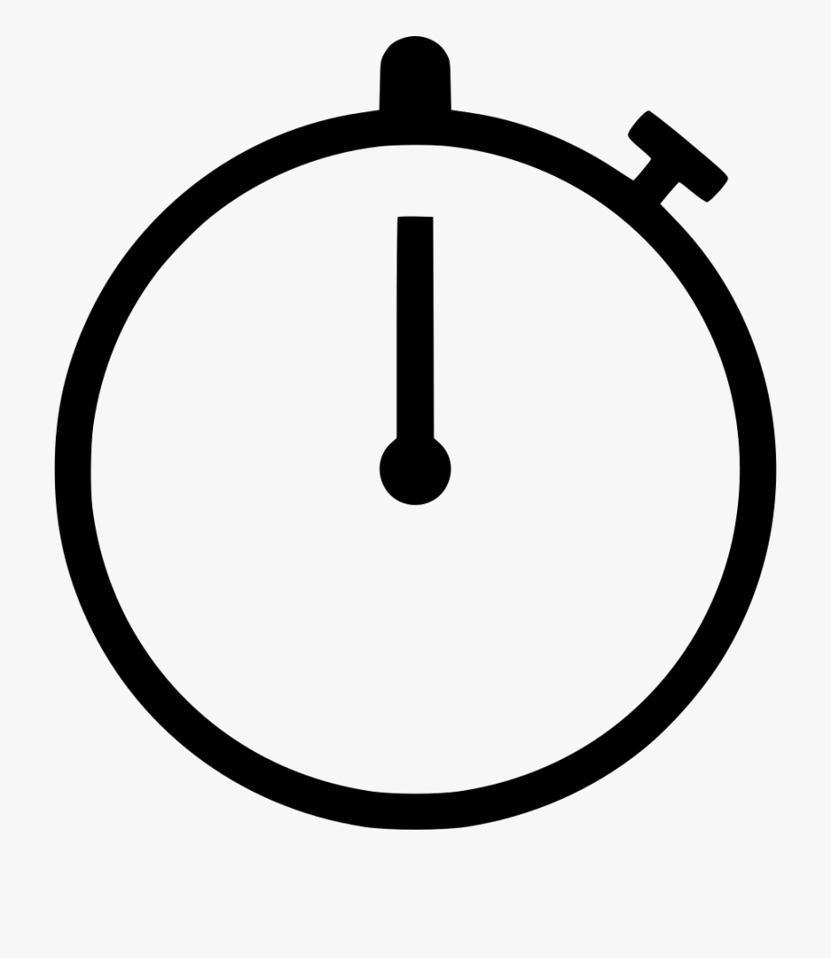 Stopwatch icon clipart black and white Timer Clock Time Png Icon Free Download - Stopwatch Svg ... black and white