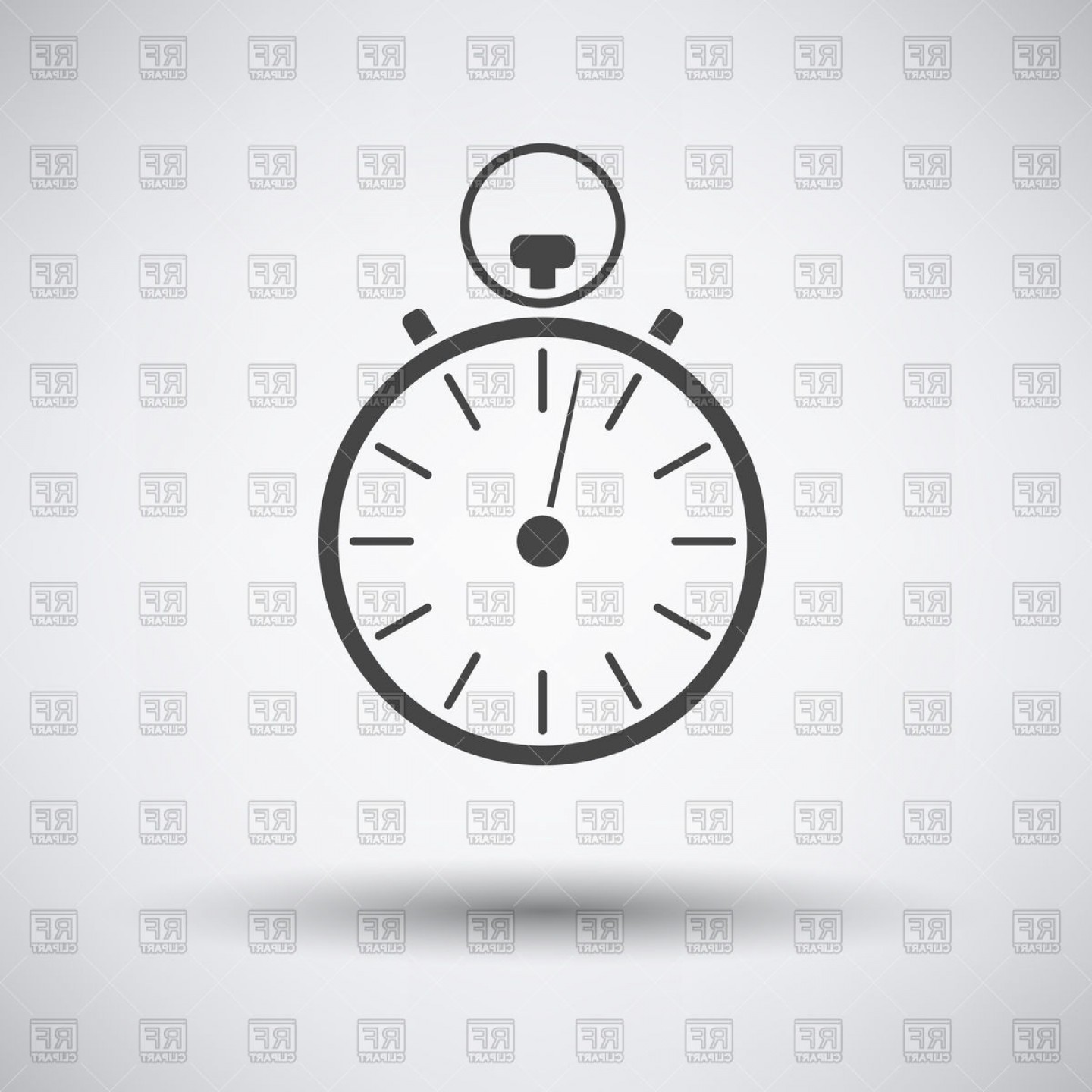 Stopwatch icon clipart svg download Stopwatch Icon On Gray Background With Round Shadow Vector ... svg download