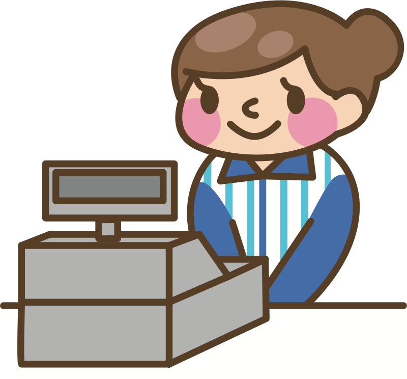 Store clerk clipart clipart freeuse stock Clipart - Cashier (#2) clipart freeuse stock