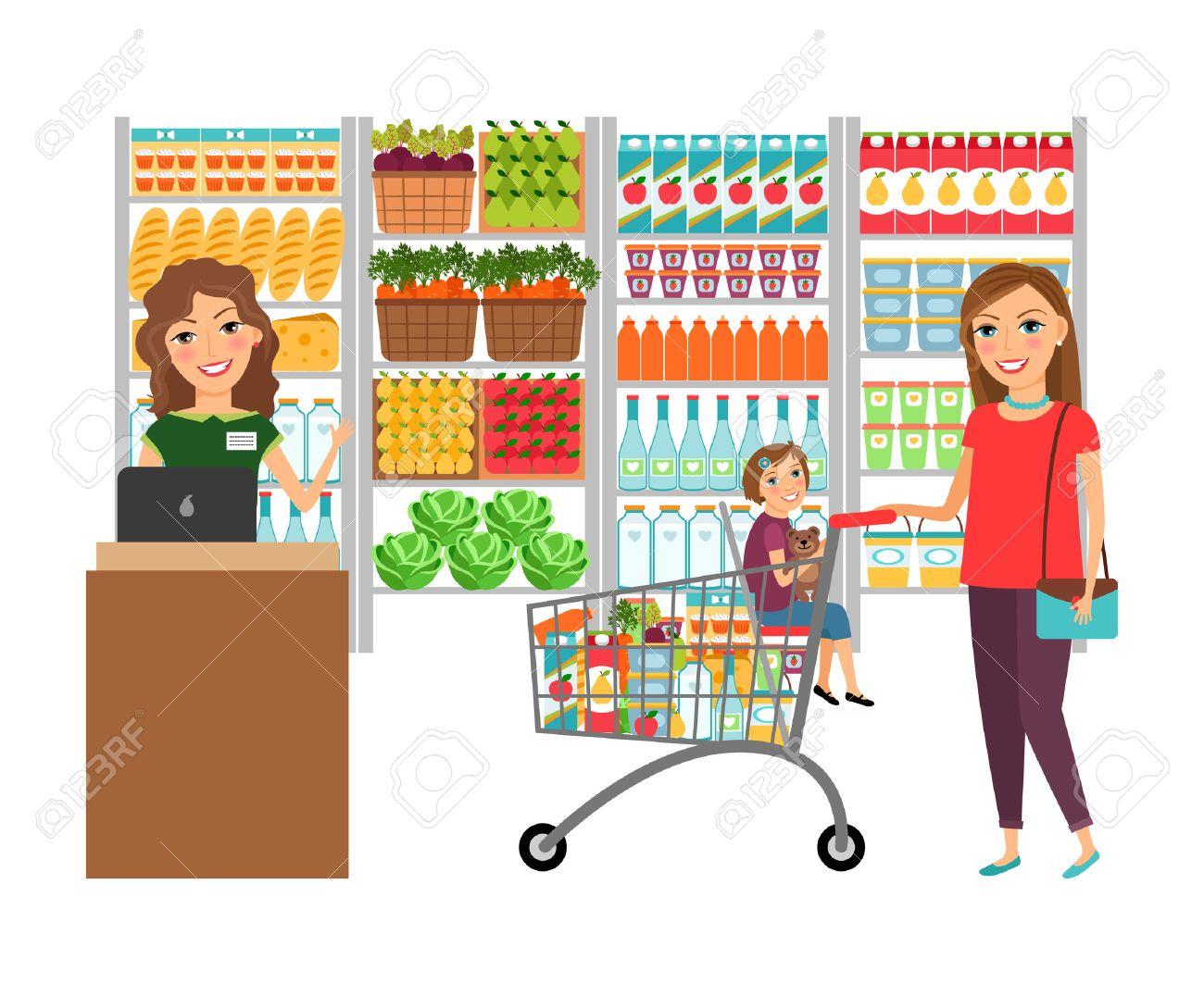 Store clipart graphic black and white stock Grocery store clipart 6 » Clipart Station graphic black and white stock