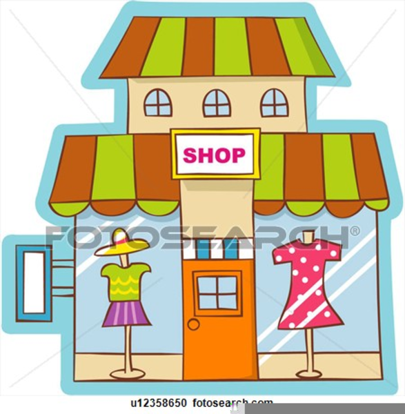 Store clipart image black and white library Thrift Store Clipart Free   Free Images at Clker.com ... image black and white library