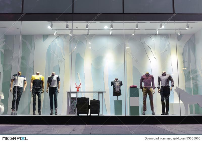 Store window clipart dreamtime svg free download Giant Man\'s Fashion Shop Window Stock Photo 53655903 - Megapixl svg free download