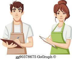 Storekeeper clipart clipart free stock Storekeeper Clip Art - Royalty Free - GoGraph clipart free stock