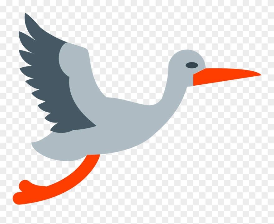 Stork flying clipart freeuse download Flying Stork Icon - Icon Clipart (#661429) - PinClipart freeuse download