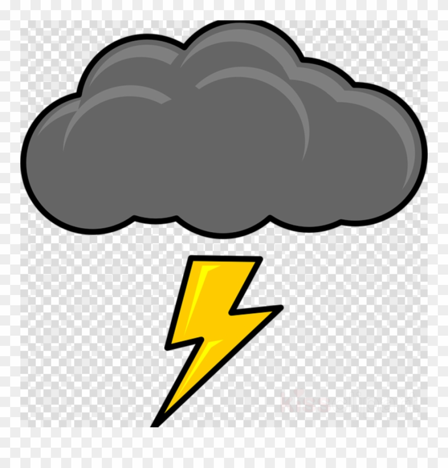 Cartoon lightning clipart svg black and white Cartoon Thunder Cloud Clipart Cloud Lightning Clip ... svg black and white