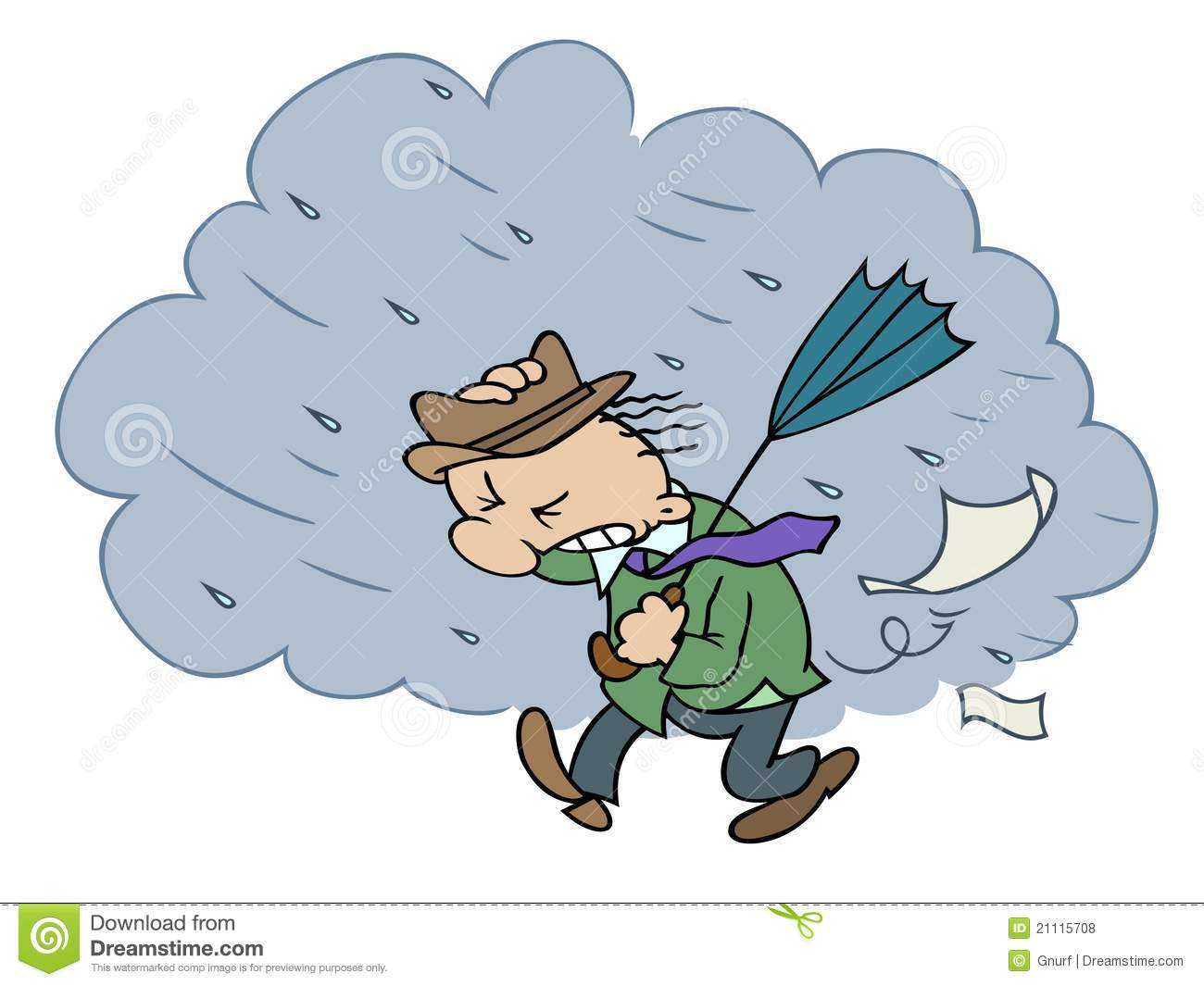 Stormy day clipart
