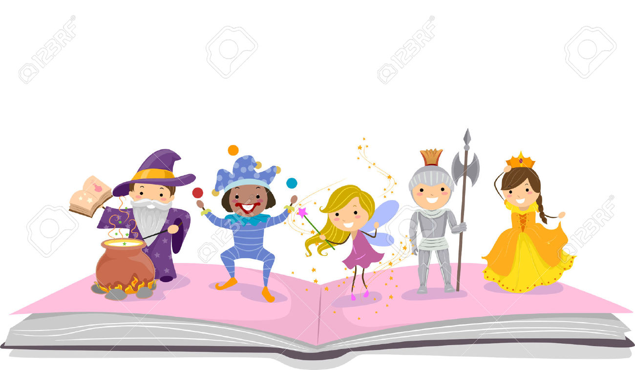 Storybook characters clip art graphic Illustration Of Stickman Kids Dressed As Characters Commonly ... graphic