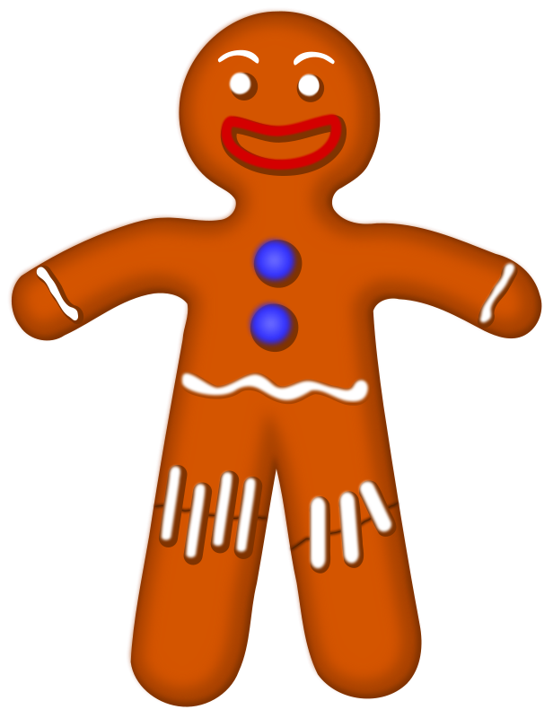House painter clipart free image free download Storybook Gingerbread Man Clipart image free download