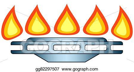 Stove burner chemistry clipart picture black and white stock Vector Illustration - Burner. eps. Stock Clip Art gg82297507 ... picture black and white stock