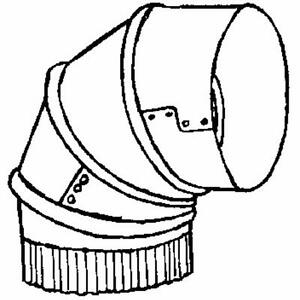 Stove pipe clipart black and white Details about Galvanized 9\