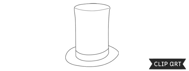 Stove pipe clipart graphic library stock Stovepipe Hat Template – Clipart graphic library stock
