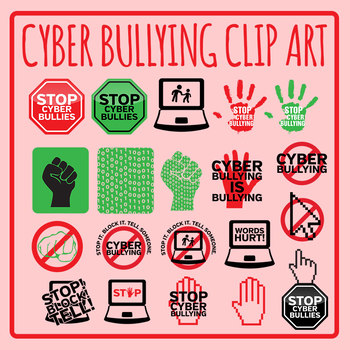 Stp clipart png stock Stop Cyber Bullying Signs / Symbols / Icons Clip Art Set for Commercial Use png stock