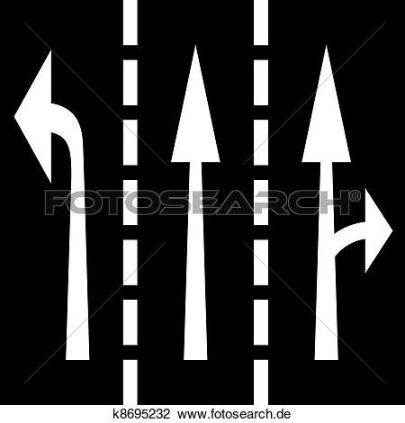Strae von oben clipart banner black and white download Clipart - vektor, straße, pfeile k8695232 - Suche Clip Art ... banner black and white download