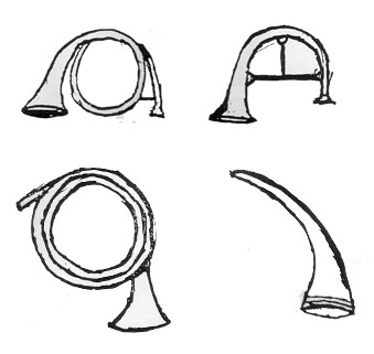 Straight bugle horn clipart vector royalty free The Evolution of the Military Bugle in the Nineteenth Century vector royalty free