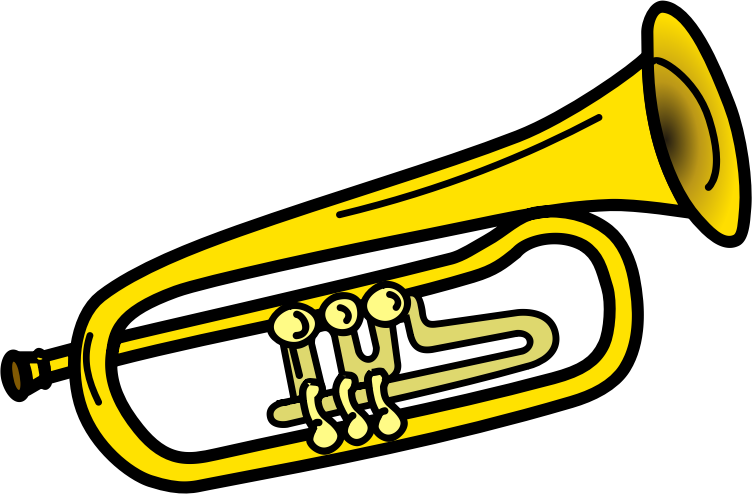 Straight bugle horn clipart graphic library download Trumpets Art | Free download best Trumpets Art on ClipArtMag.com graphic library download
