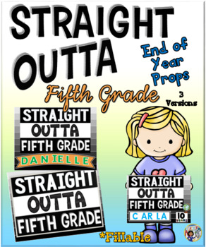 Straight outta preschool clipart vector transparent stock End of Year Props ~ Straight Outta Fifth Grade vector transparent stock