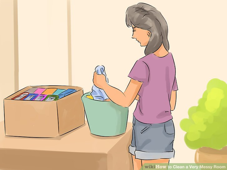 Straighten up a room clipart image free library 4 Ways to Clean a Very Messy Room - wikiHow image free library