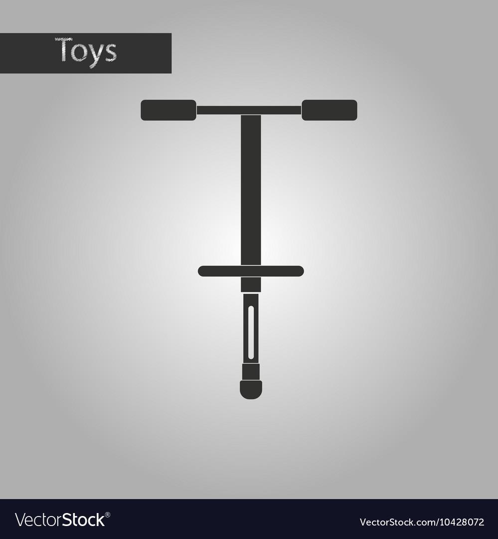 Strange pogo stick clipart black and white freeuse stock Black and white style toy pogo stick freeuse stock