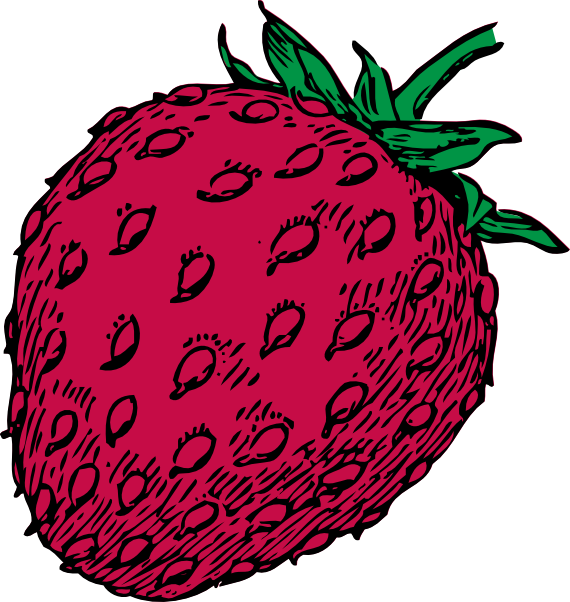 Strawberry heart clipart vector free stock Strawberry 15 Clip Art at Clker.com - vector clip art online ... vector free stock