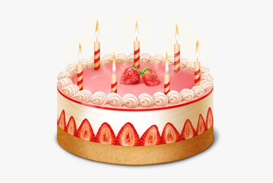 Strawberry cake clipart clip library Candle Strawberry Cake Free Clipart Download - Birthday Cake ... clip library