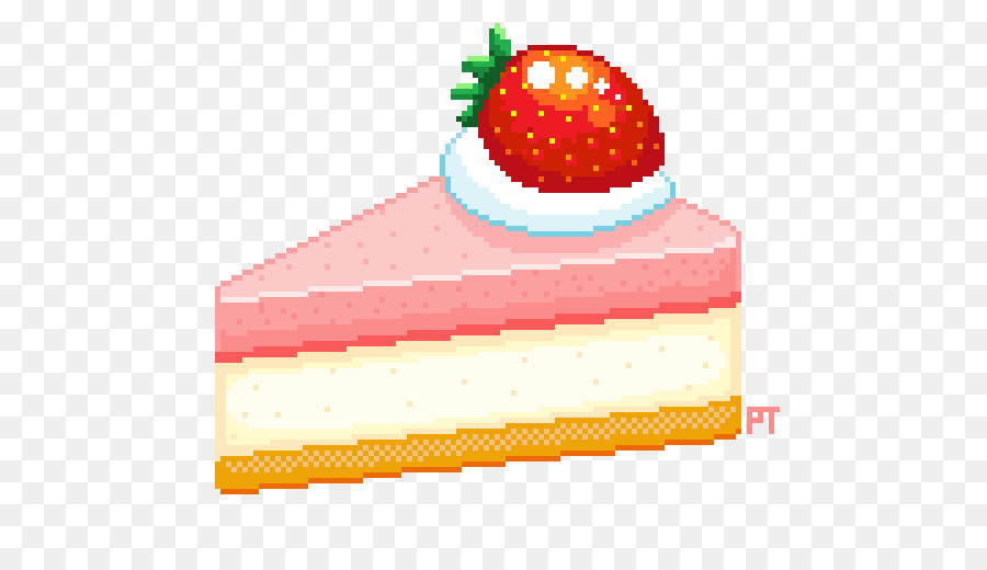 Strawberry cake clipart svg library stock Food Pixel Art clipart - Cake, Strawberry, Food, transparent ... svg library stock
