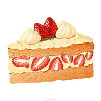 Strawberry cake clipart png freeuse Strawberry Cake Clip Art | Delicious Strawberry Shortcake ... png freeuse