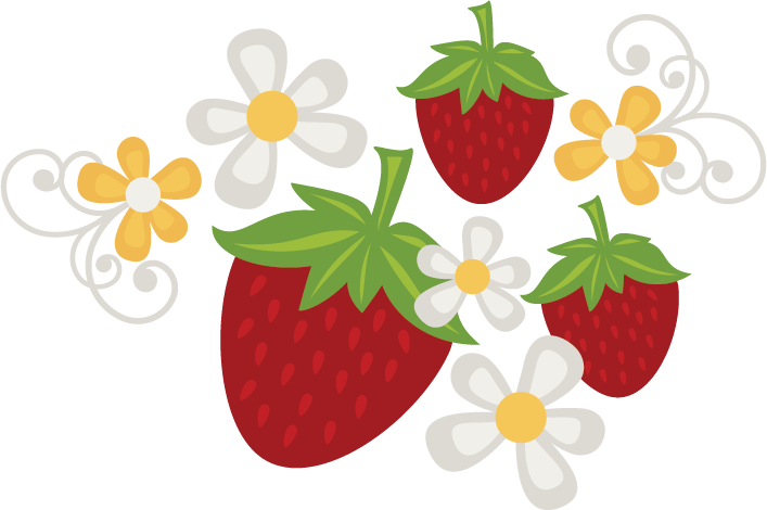 Strawberry flower clipart jpg free stock Strawberries & Flowers SVG file free svg files free svgs free ... jpg free stock