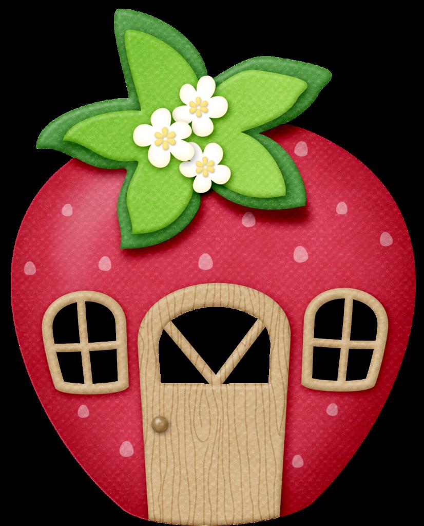 Strawberry heart clipart transparent lliella_StrawberryKisses_house2.png | Pinterest | Clip art, Scrap ... transparent