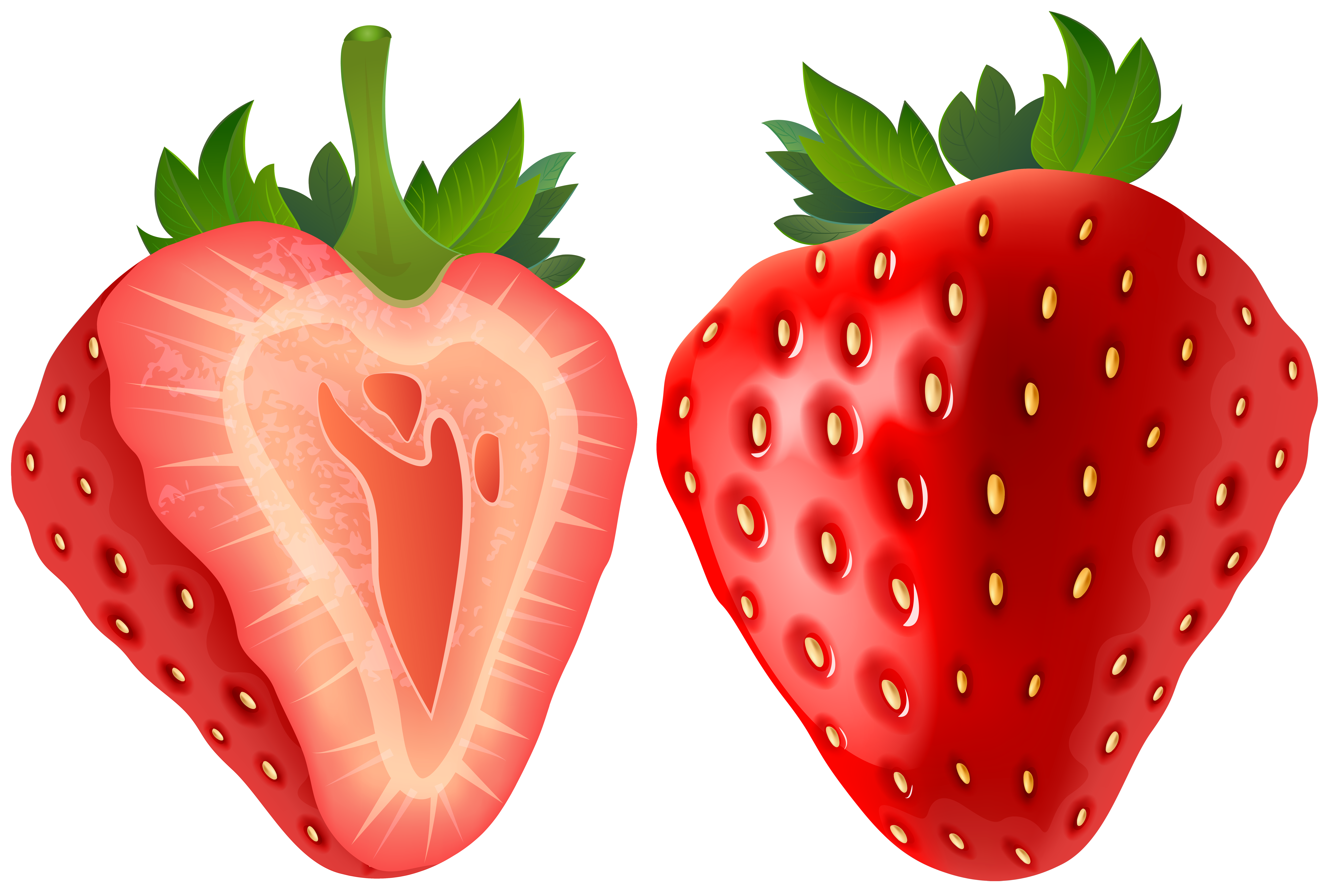 Strawberry heart clipart image transparent download Strawberry Transparent PNG Clip Art Image | Gallery Yopriceville ... image transparent download
