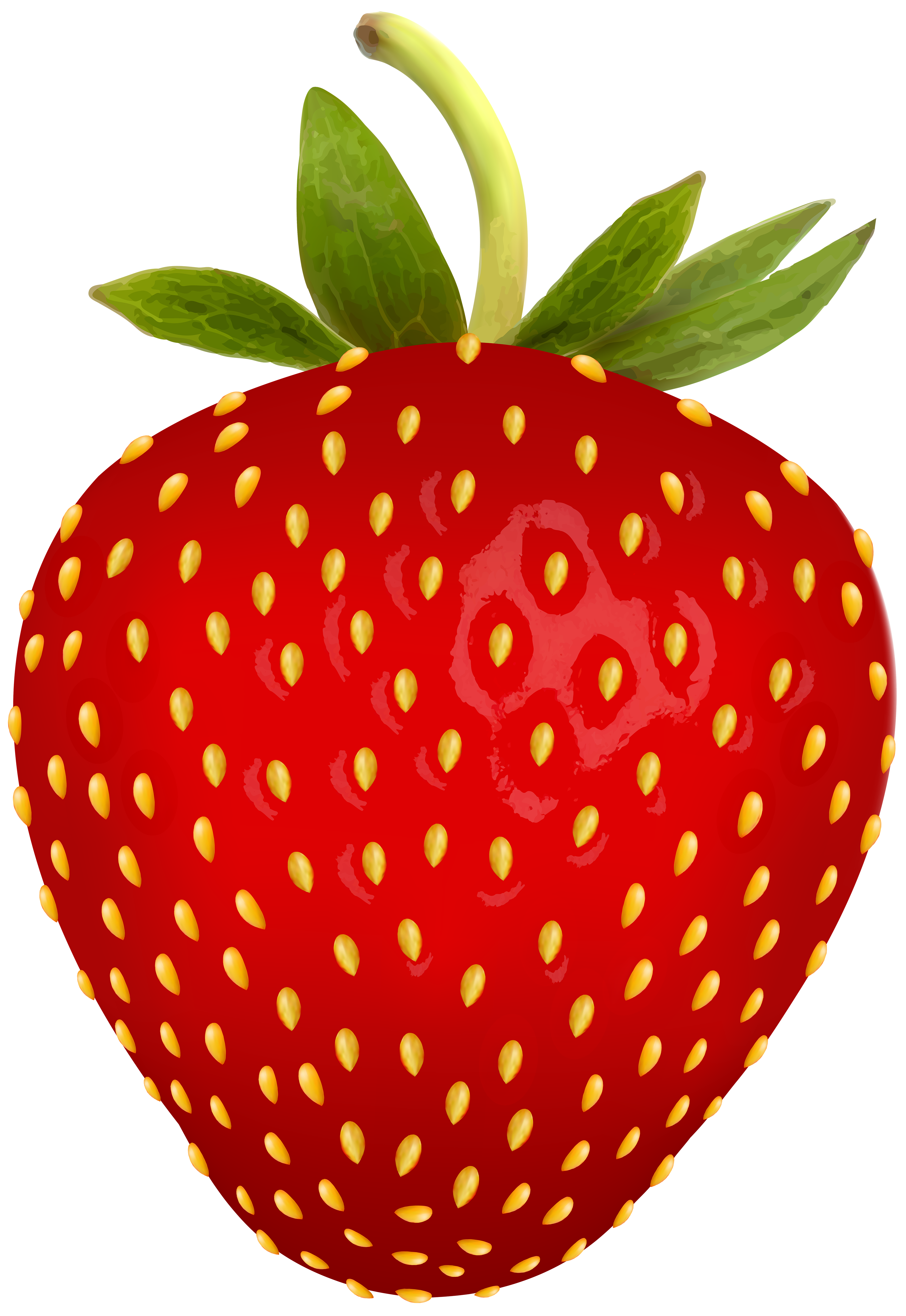 Strawberry heart clipart transparent library Strawberry PNG Free Clip Art Image | Gallery Yopriceville - High ... transparent library