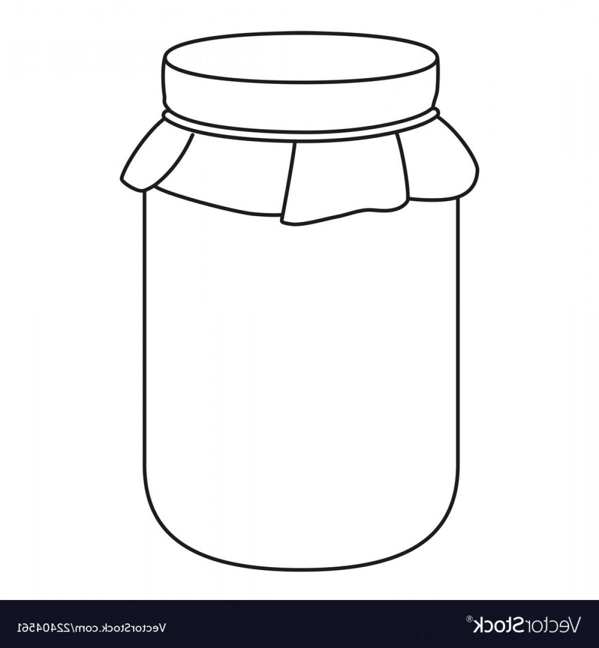 Strawberry jam clipart black and white no copyright clip art transparent download Line Art Black And White Jam Jar Vector | SOIDERGI clip art transparent download