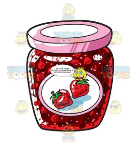 Strawberry jam clipart black and white no copyright picture A Jar Of Strawberry Jam picture