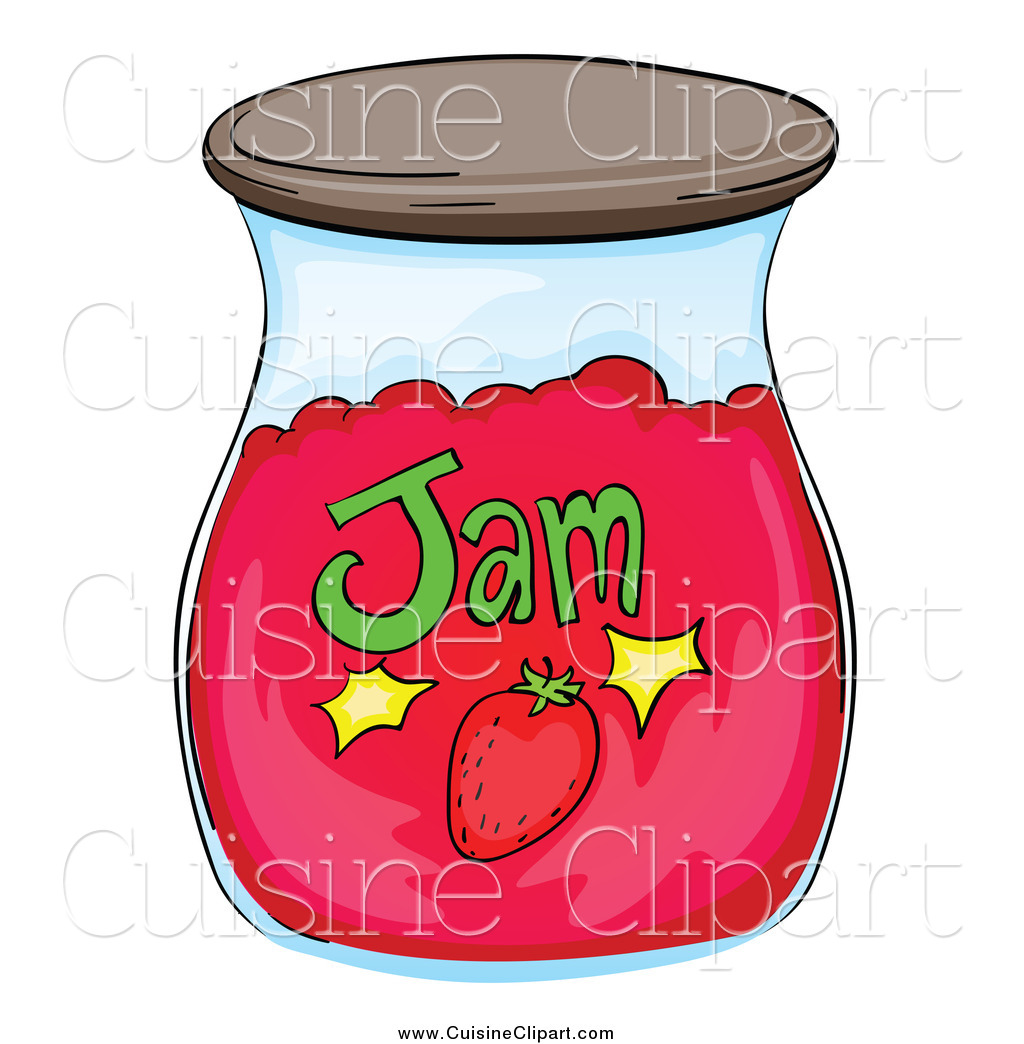 Strawberry jam clipart black and white no copyright banner transparent stock Cuisine Clipart of a Strawberry Jam Jar by Graphics RF - #16884 banner transparent stock