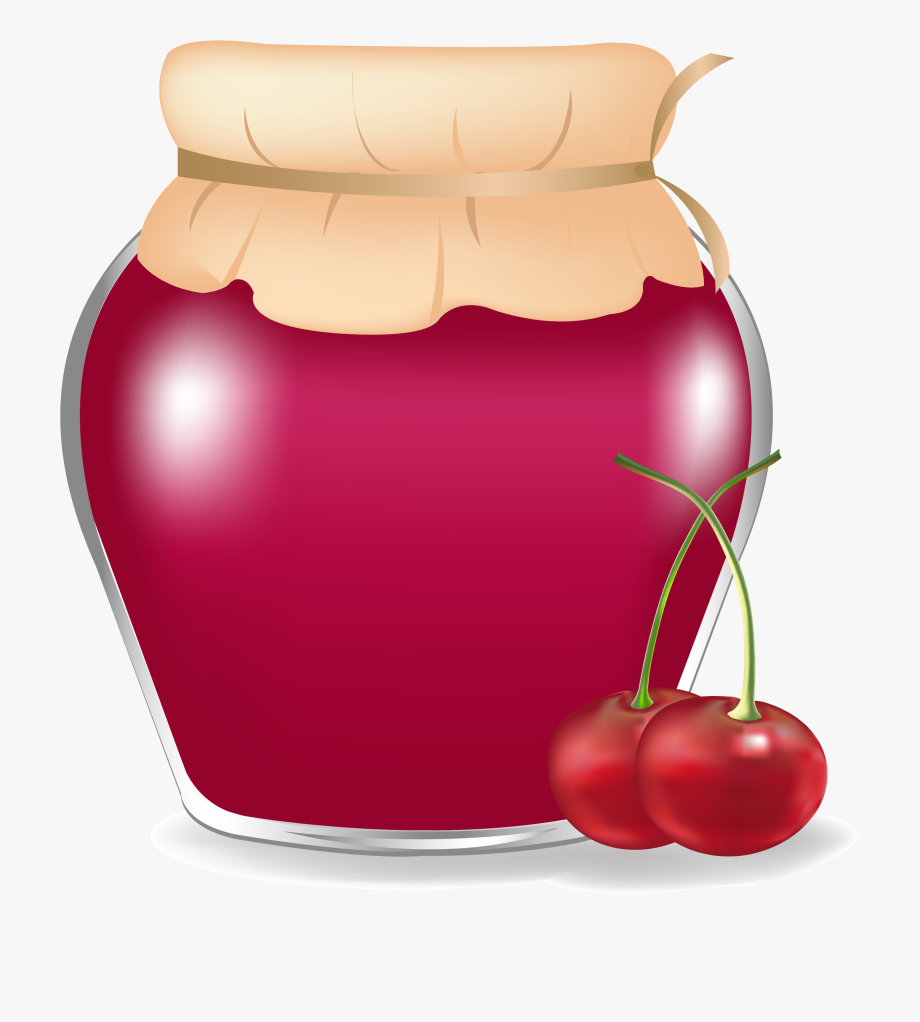 Strawberry jam clipart black and white no copyright black and white Clipart Bread Jam - Cherry Jar Clipart #302959 - Free ... black and white