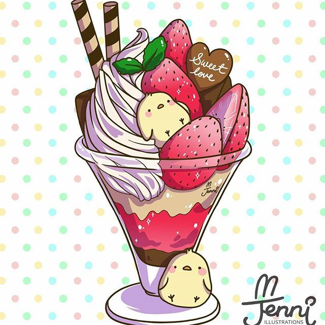 Strawberry parfaits clipart free library Cute Strawberry Parfait . . . #strawberry #parfait #dessert ... free library