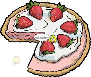 Strawberry pie clipart jpg transparent library A Strawberry Cream Pie jpg transparent library
