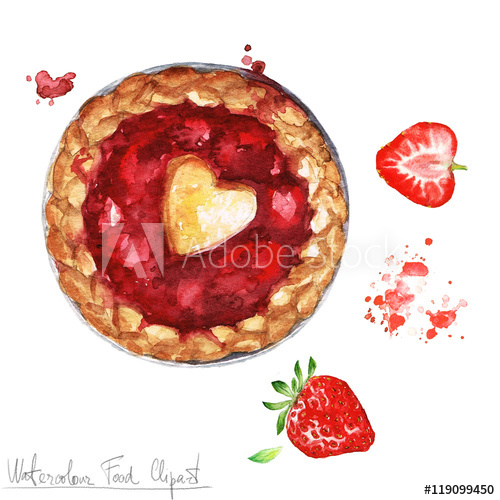 Strawberry pie clipart image black and white library Strawberry, Food, Illustration, Fruit, Dessert, Heart png ... image black and white library