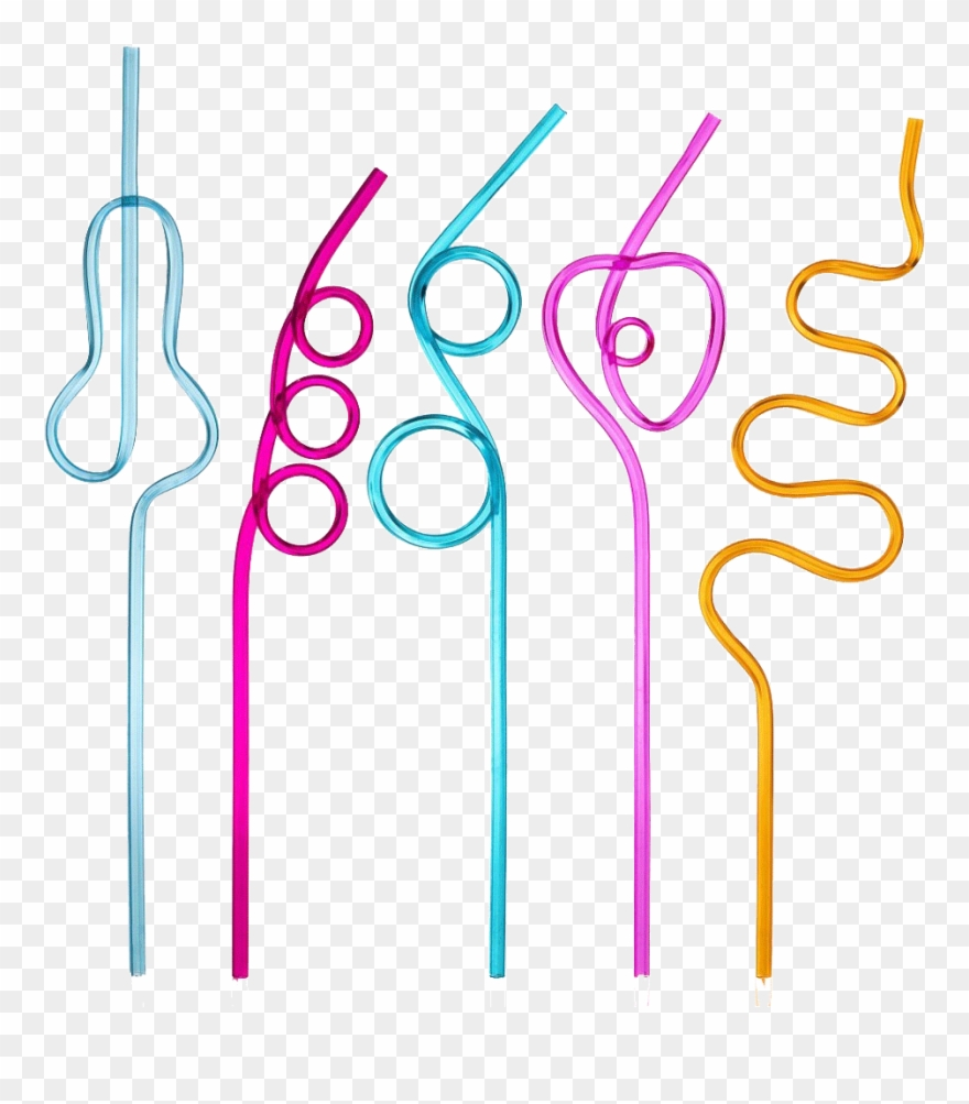 Straws clipart graphic black and white Reusable Straws - Straw Shapes Clipart (#3228530) - PinClipart graphic black and white
