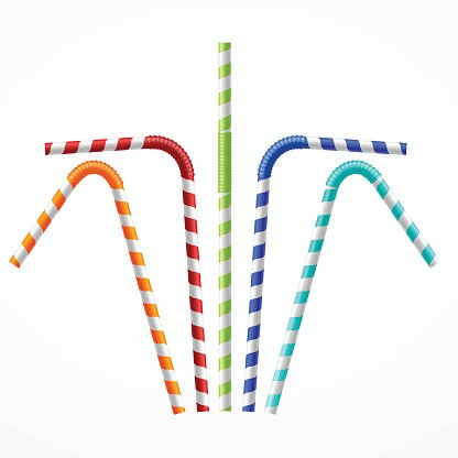 Straws clipart picture black and white download Striped Colorful Drinking Straws Vector premium clipart ... picture black and white download