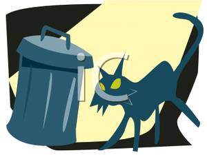Stray cats clipart image transparent library A Stray Cat Preparing To Get Into a Garbage Dumpster ... image transparent library
