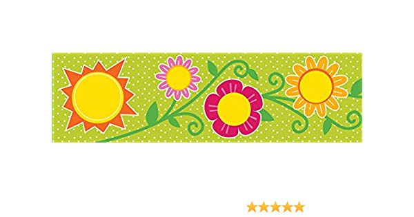 Streams clipart on a flower for a bulletin board graphic royalty free Sunshine & Flowers Straight Borders graphic royalty free
