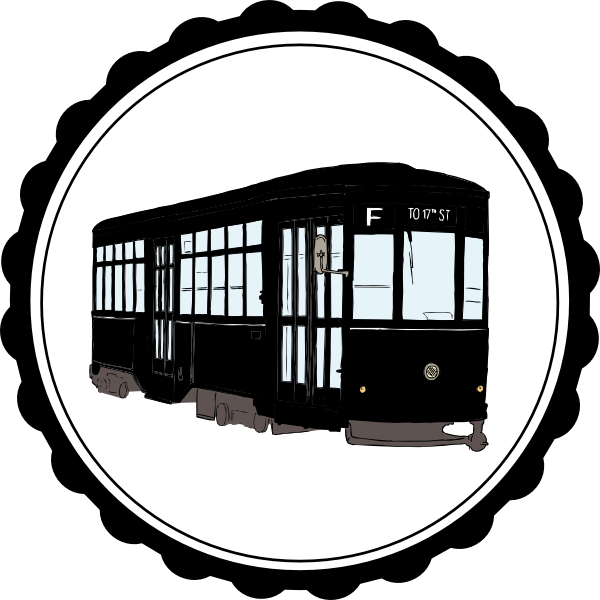 Street car clipart jpg black and white stock Streetcar Clip Art at Clker.com - vector clip art online, royalty ... jpg black and white stock