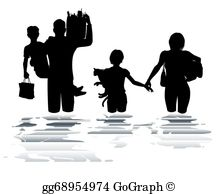 Street flooding clipart free black white vector freeuse library Flood Clip Art - Royalty Free - GoGraph vector freeuse library