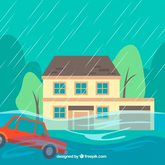 Street flooding clipart free black white jpg royalty free library Flood Vectors, Photos and PSD files   Free Download jpg royalty free library
