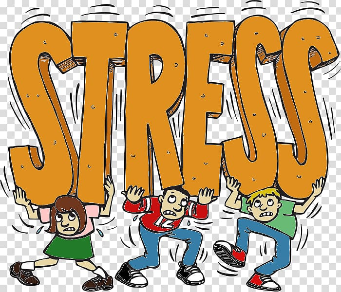 Stress management clipart royalty free library Stress letters carried by three people illustration ... royalty free library