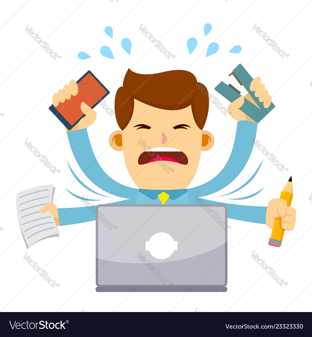 Stressed businessman clipart png freeuse library Businessman feeling stressed working behind laptop png freeuse library