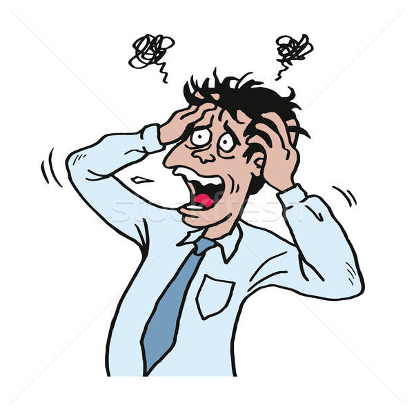 Stressed businessman clipart graphic library library Stressed Man at Work Grabbed His Head. Businessman Vector ... graphic library library