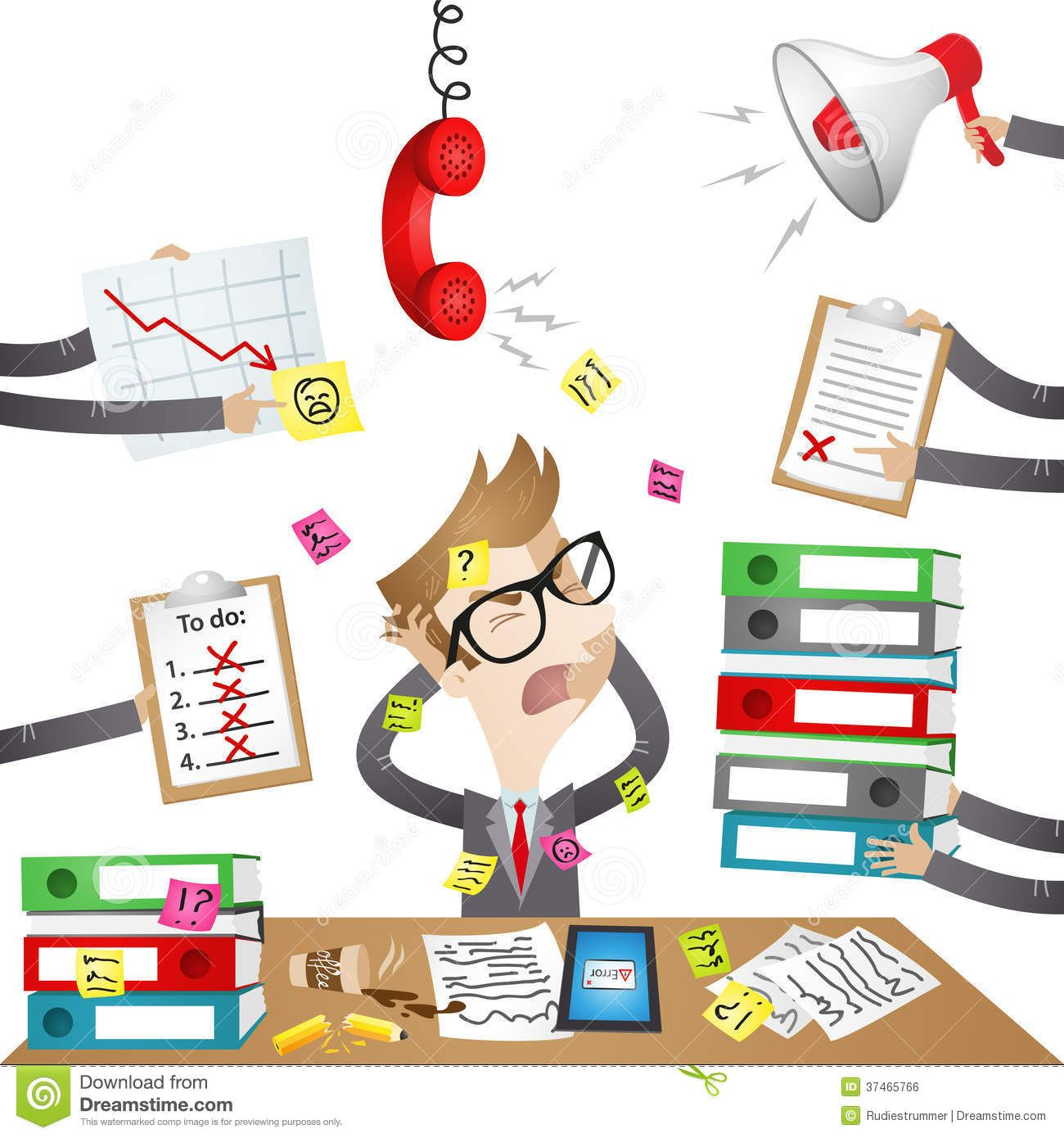 Stressed businessman clipart banner library download Cartoon Character: Stressed Out Businessman Royalty Free ... banner library download