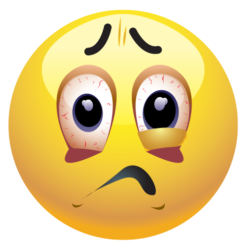 Stressed face clipart