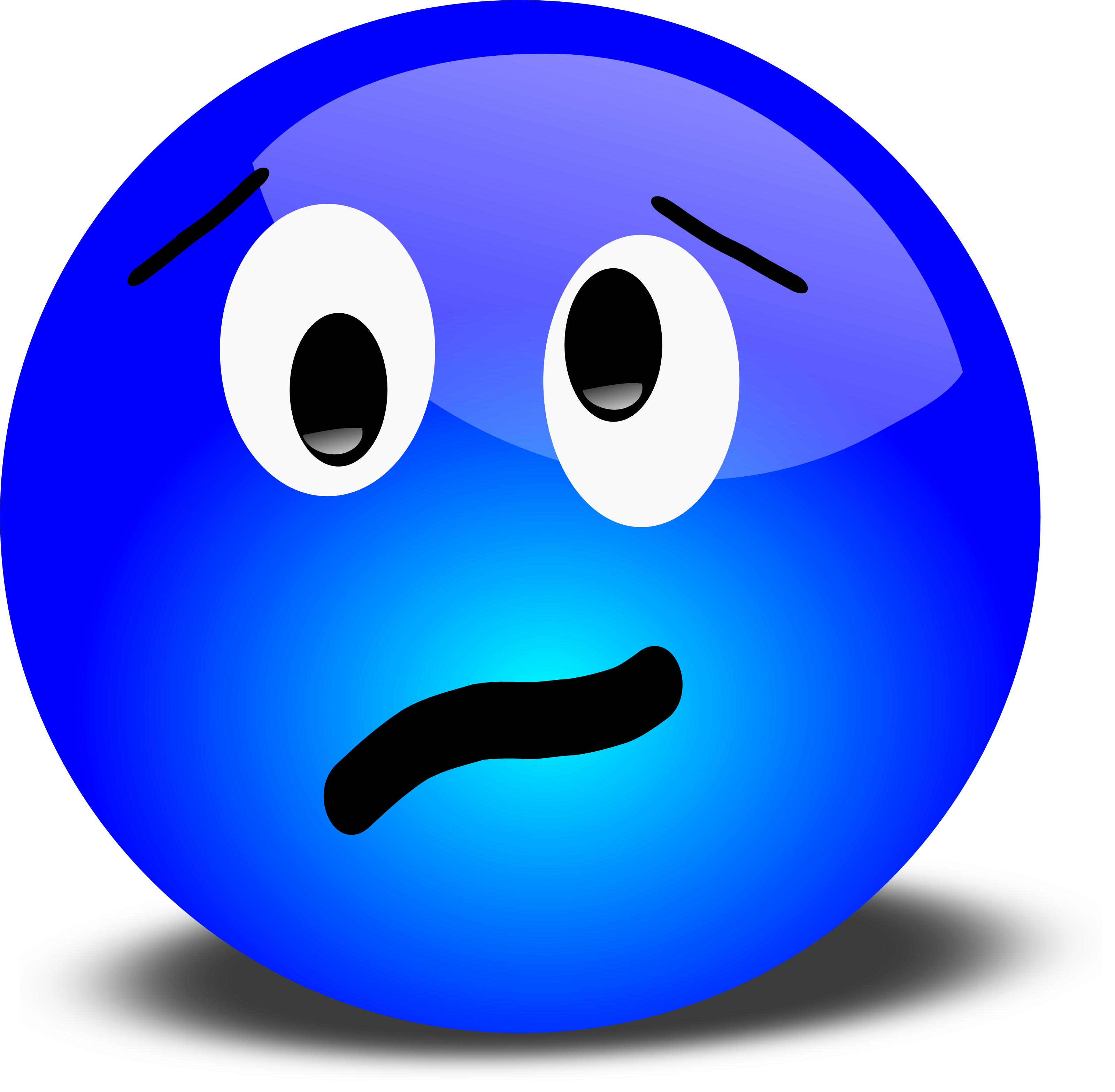 Stressed face clipart clipart freeuse download Free 3D Stressed Smiley Face Clipart Illustration - Free Clipart clipart freeuse download